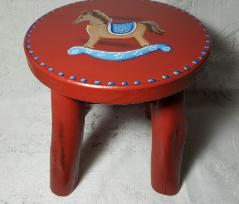 Hand Painted Child's Rocking Horse Stool - view 2
