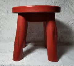 Hand Painted Child's Rocking Horse Stool - Side View