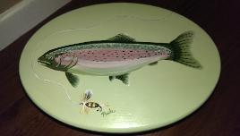 Hand Painted Fish Stool
