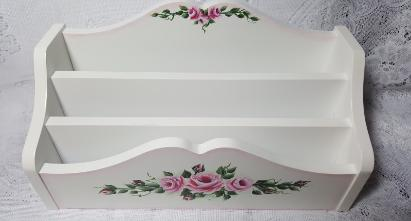 Hand Painted Roses Desk Organizer - Top view