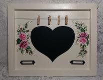 Decorative Heart Memo Chalkboard with HP Roses
