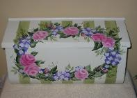 Roses & Stripe Wall Mount Mailbox