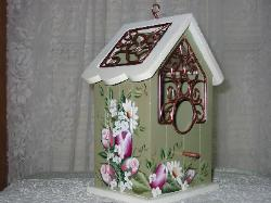Roses, Tulips and Daisies Birdhouse