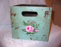 Shabby Box with HP Roses - large/side2