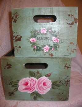 Shabby Boxes with HP Roses Duo