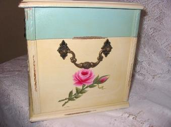 Shabby Chest with HP Pink Roses - right side