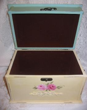 Shabby Chest with HP Pink Roses - inside