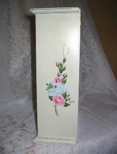 Shabby Chic Cabinet with HP Roses - side 2