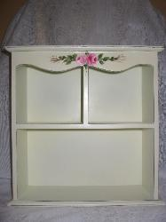 Shabby Chic Cabinet Shelf with HP Roses