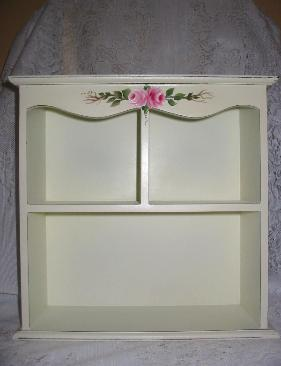 Shabby Chic Cabinet with HP Roses