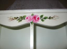 Shabby Chic Cabinet with HP Roses - front