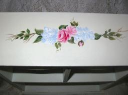 Shabby Chic Cabinet with HP Roses - top