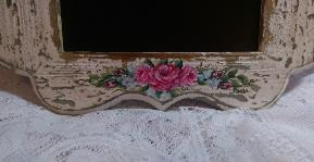 Shabby Chic HP Roses Decorative Chalkboard - Bottom View