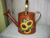 Sunflowers on Rustic (b/g) Watering Can
