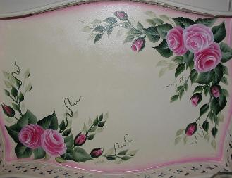 Shabby Chic Roses Decorative Tray - Up Close