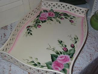 Shabby Chic Roses Tray - View 2