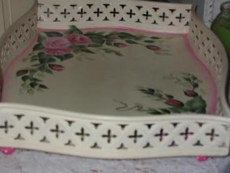 Shabby Chic Roses Tray - View 3