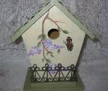 HP Wisteria and Butterfly Birdhouse