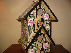 Animal Print and Roses Birdhouse