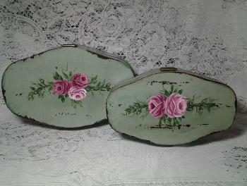 Decorative Storage Box Duo Set with HP Roses
