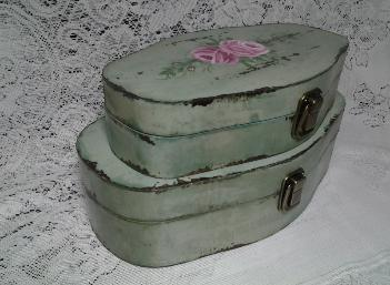 Decorative Storage Box Duo Set with HP Roses view 2