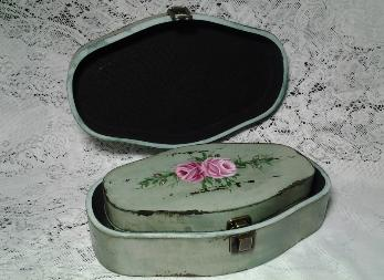 Decorative Storage Box Duo Set with HP Roses- View 4