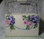 HP Roses and Hydrangea Wood Caddy