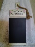 Hand Painted Shabby Chic Chalkboard with Roses