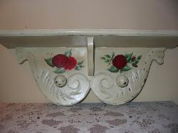 Red Roses Wall Shelf