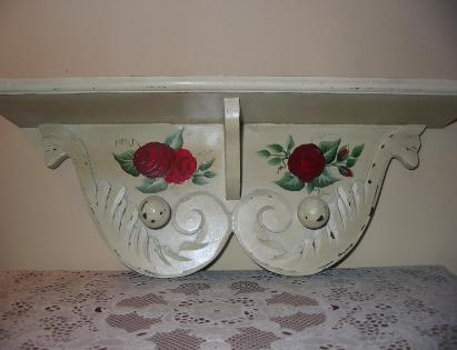 Red Roses Wall Shelf- Front View